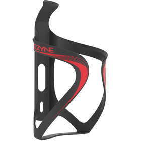 Lezyne Carbon Team Bottle Cage, black/red